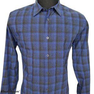 Armani Exchange Casual Button Up Blue Shirt Size L